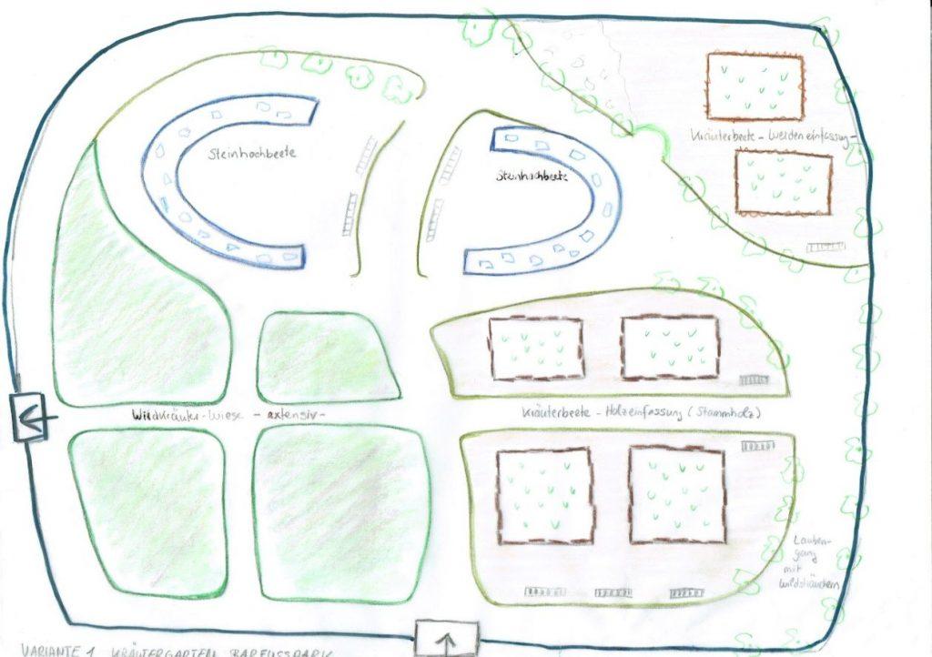 Barfußpark Plan