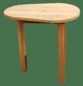 robuste Beistell- und Gartentisch aus Eichen- und Lärchenholz günstig kaufen in Berlin